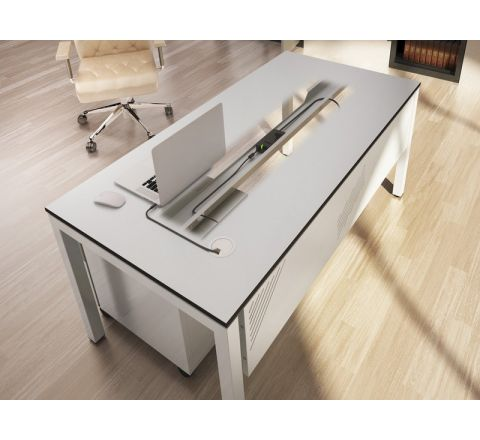 Biurko stół biurowy prostokątny STB1280ST 120x80cm MALOW