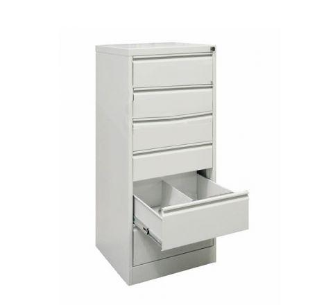 Metalowa szafka na dokumenty SZK 321 - 6 szuflad dwurzędowych