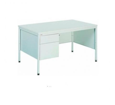 Metalowe biurko do gabinetu BIM 032 z szafką przybiurkową