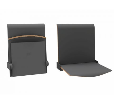 Siedzisko naścienne składane manualne STRAPONTEN TPS1 Twist Plus AllHall grafitowy