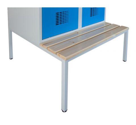 Podstawa z ławką stała do szafy socjalnej bhp P411W MALOW 400mm