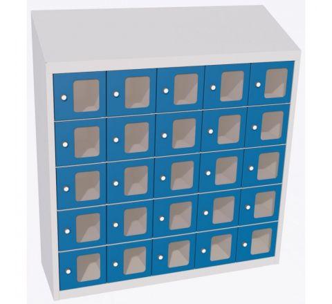 Szafka na stołówkę  SUS 255 WP 25-komorowa, drzwiczki z plexi