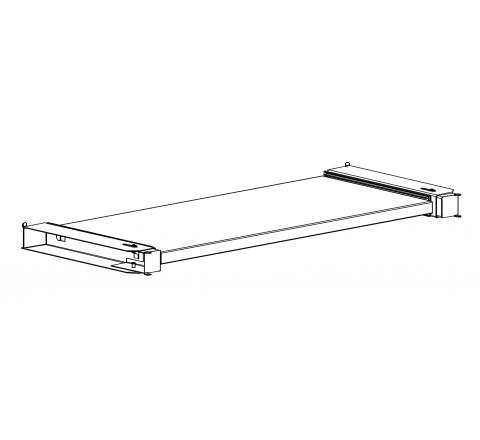 Metalowa półka wysuwana do szaf aktowych Sbm m 800 mm Malow
