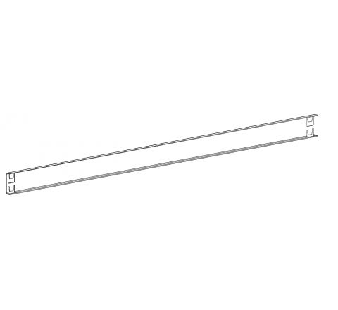 Ogranicznik tylny na regał RMM szer.1200mm MALOW OTRmm1200