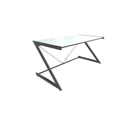 Biurko DD Z-Line Main czarno-białe blat szklany