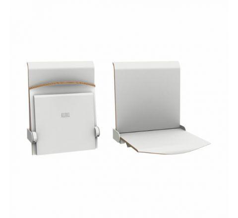 Siedzisko naścienne składane automatyczne  STRAPONTEN TPS1A Twist Plus AllHall biały