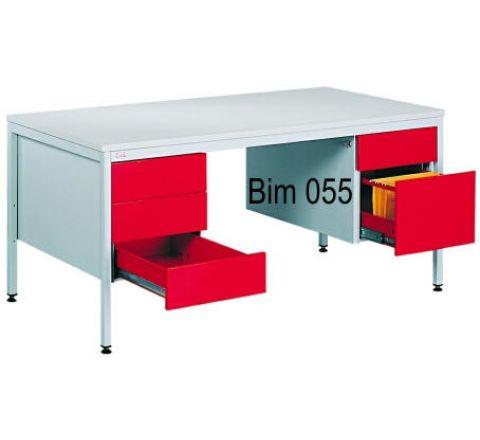 Metalowe biurko do gabinetu lekarskiego BIM 055
