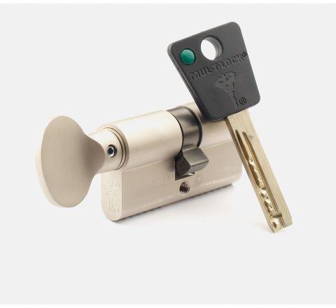 System Mul-T-Lock  Wkładka 62 Mm  +  Wkładka 62 Mm Z Pokrętłem