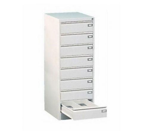 Metalowa szafka na dokumenty SZK 323 - 8 szuflad dwurzędowych