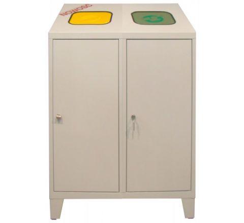 Pojemnik na odpady MPO 02R na makulaturę, plastik, szkło
