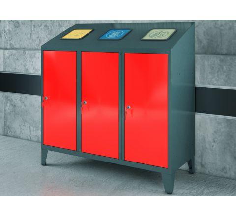 Pojemnik metalowy na makulaturę, papier i szkło MPO 03RRK