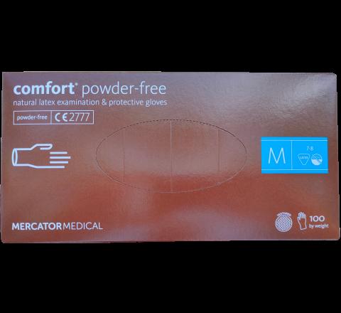 Rękawice lateksowe COMFORT 100 sztuk. MERCATOR® - rozmiar M