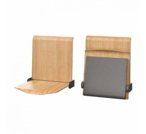 Siedzisko naścienne składane automatyczne STRAPONTEN TPS1A Twist plus  Allhall dąb naturalny