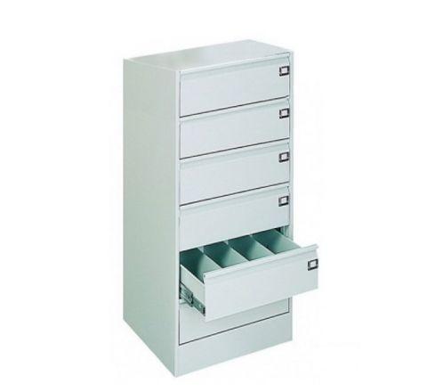 Metalowa szafka na dokumenty SZK 322 - 6 szuflad 4 rzędy metalowa
