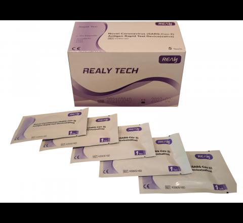 Test antygenowy na obecność SARS-CoV-2 REALY TECH 5 sztuk w opakowaniu Certyfikat CE