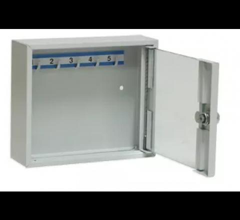 Szafka na klucze SK 5/S z haczykami mocowanymi na stałe przeszklona LEOMAR