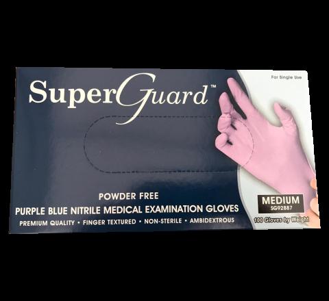 Rękawice nitrylowe SUPER GUARD - 100 sztuk - rozmiar M