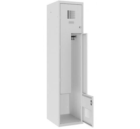 Szafa ubraniowa metalowa drzwi L 2 pracowników 40cm SUL41Wst