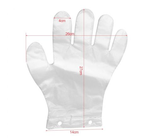 Rękawice foliowe jednorazowe  ZRYWKI z 2 dziurkami HDPE